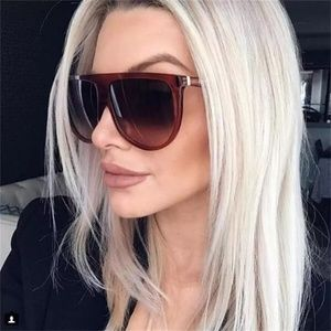 Accessories - Just in!!!Brown Thin Flat Top Oversized Sunglasses